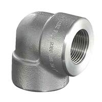 "1-1/2"" 90 Deg. Elbow, Forged, Threaded, Class 3000, T304/304L Stainless"