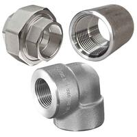 FORGED PIPE FITTINGS, THREADED, STAINLESS